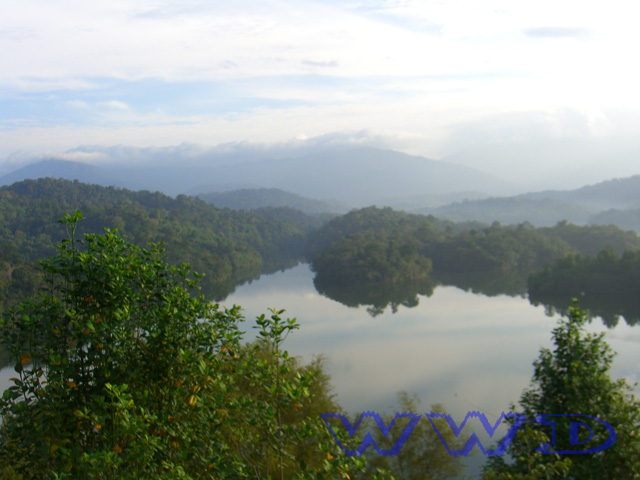 view dam on bukit tabur