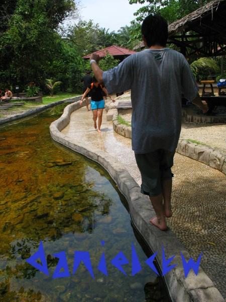 walking on the edge sungai klah hot spring