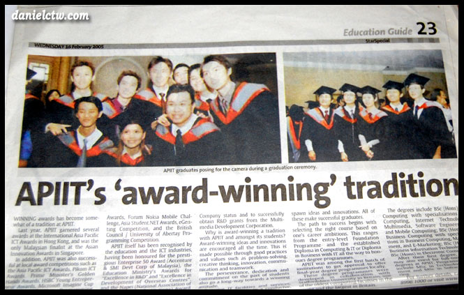danielctw on APIIT Graduation 2005