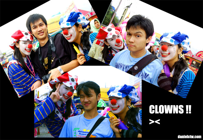 Poses With Clowns