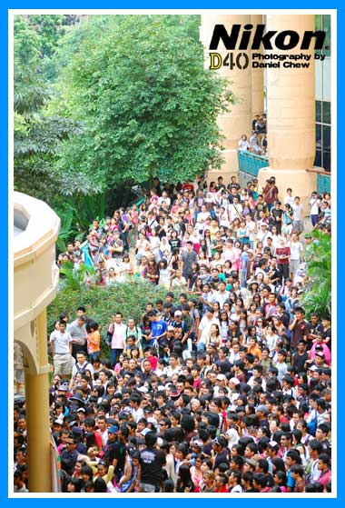 Crowd Outside Sunway Lagoon