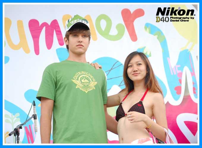 Guy with Sin Hui Jing in Bikini
