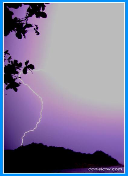 Lightning Flashes In Redang