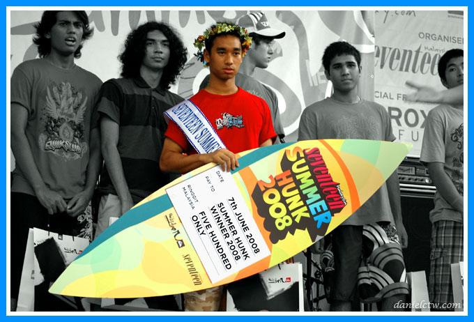 Summer Hunk Champion Engku Ahmad Shafiq