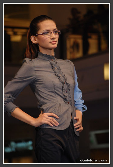 Black Blouse Female Model