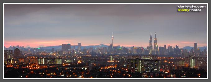 Early Night Kuala Lumpur View