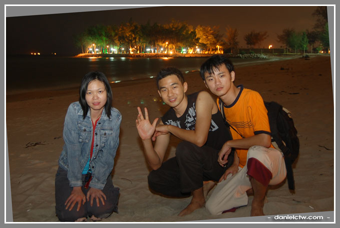 Posing In Bayu Beach