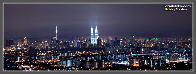 Night Time KL View From LookOut Point