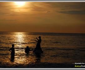 Sunset At Port Dickson Silhouette