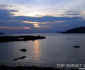 Top Sunset View of Kinabalu Sea View Marina Court Condo