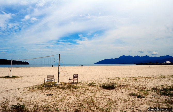 Lonely Beach Volleyball Sand Court