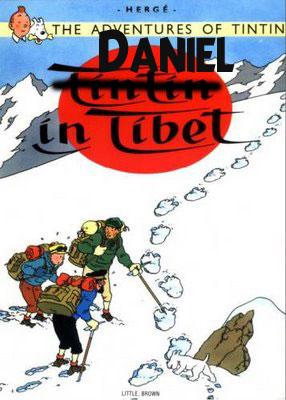 Daniel in Tibet Tintin Parody