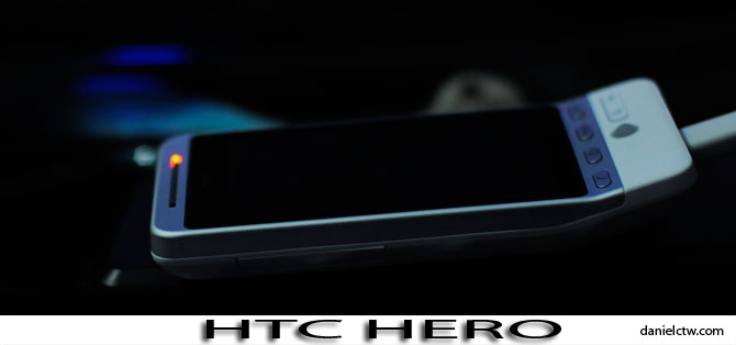 HTC Hero on Display