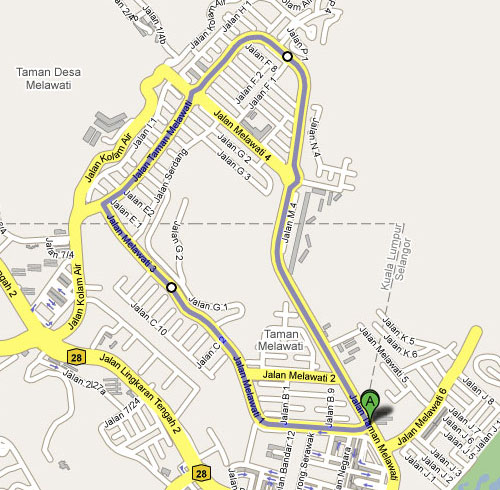 5km route taman melawati