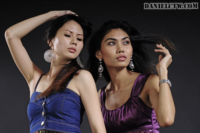 Angelyn and Nicole Model Pose