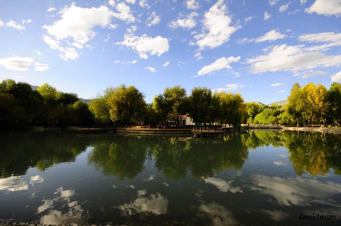 Lake behind Potala Palace