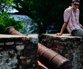 Fort Conwallis Cannon with Jonas