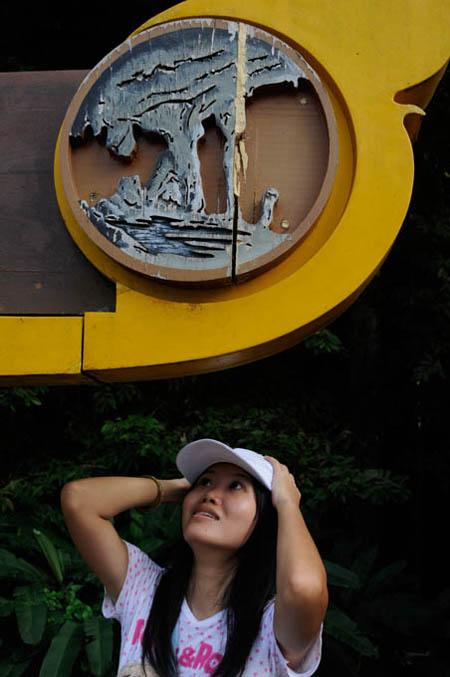 Princess Yen under Giant Signboard