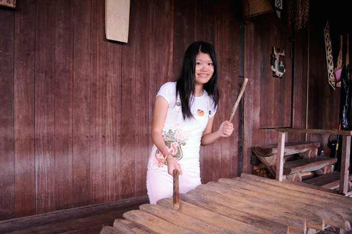Princess Yen Playing Traditional Musical Instrument