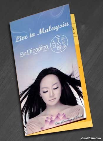 Sa Ding Ding Live In Malaysia Invite