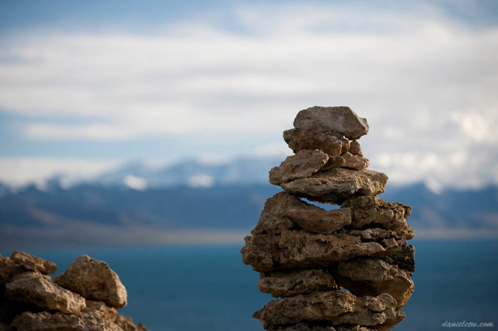 Stone Arrangement Tibetan Namtso Lake