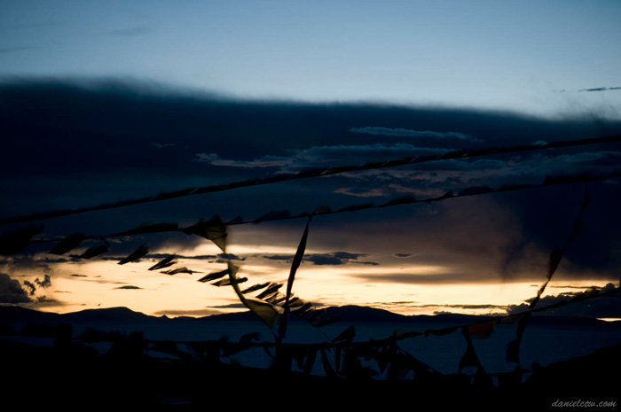 Sunset Namtso Horizon Sunlight