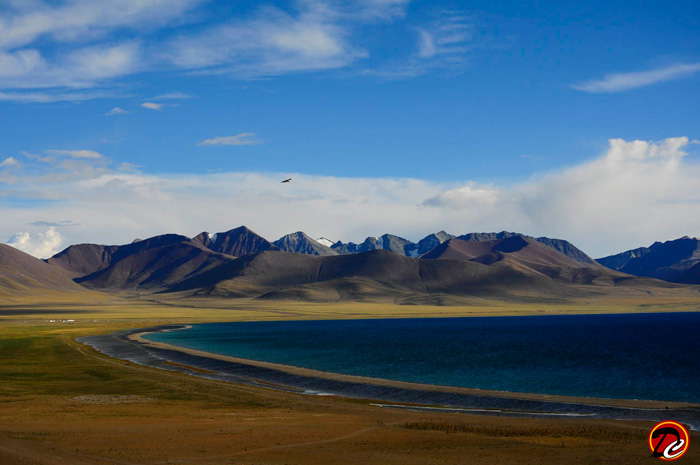 Namtso Lake View from higher ground