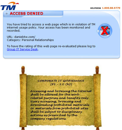 Restricted Access to DanielCtw.com