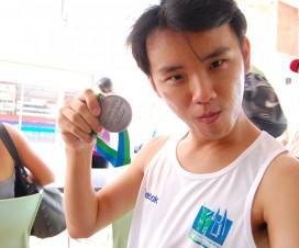 WTF Pose Finisher Medal KL Marathon 2009