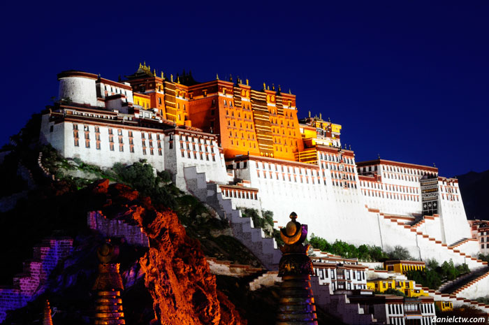 Friday night Potala Palace