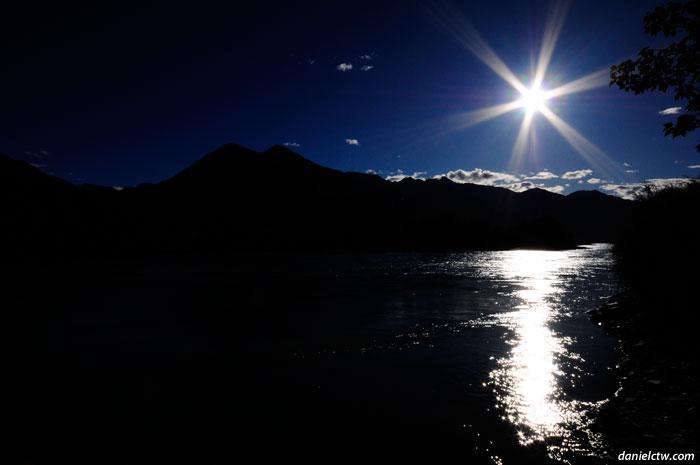 Sun Light Shine on Water
