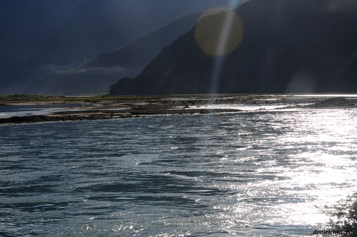 Sunlight on Lake Out of Lhasa