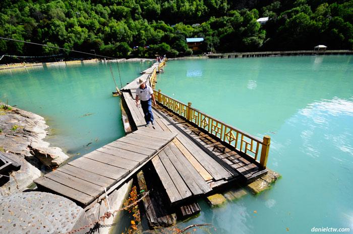 Unstable Bridge on Lake