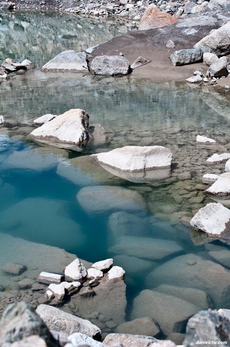 Lake with Ice Block