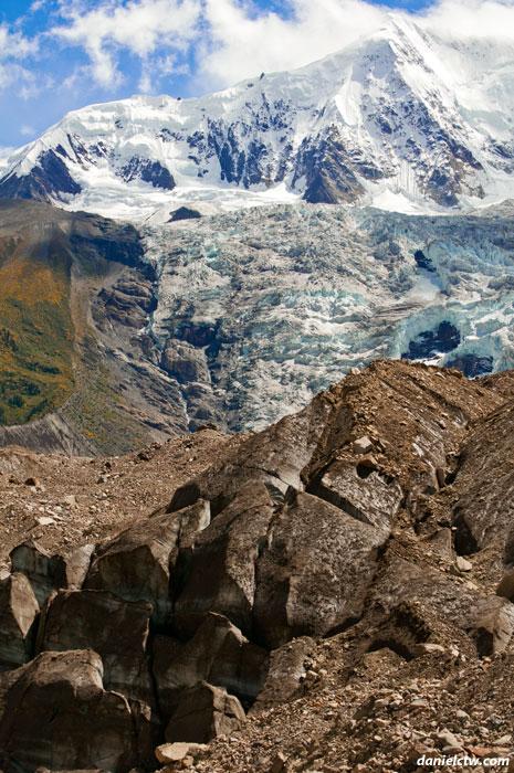 Midui Glacier with Ice Block