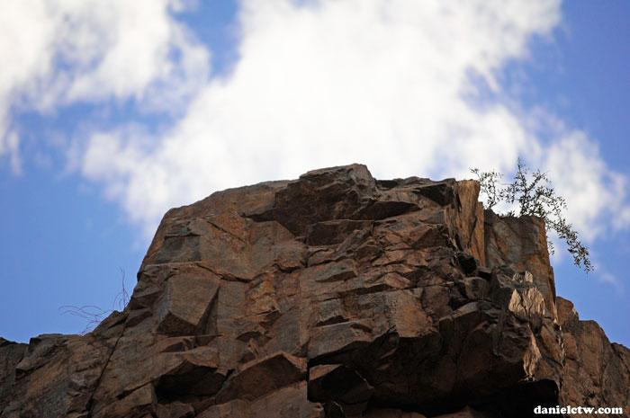 Rocks Against Cloud Scenery