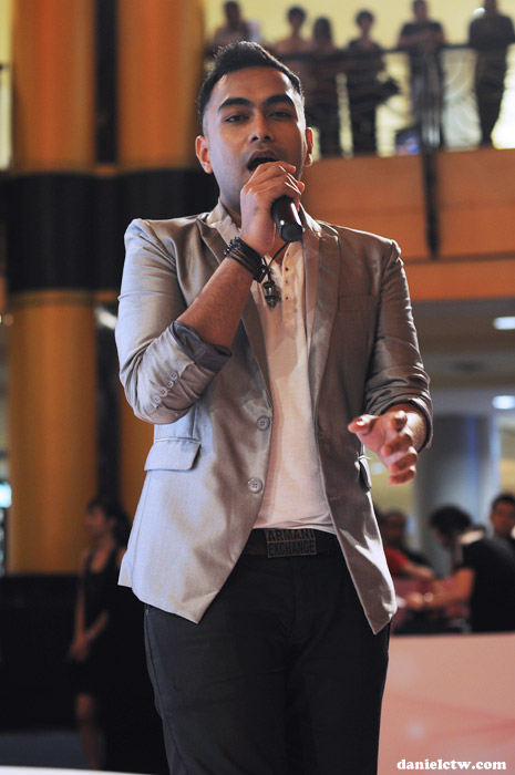 Guest Artiste Singing at Sasa Event 2010
