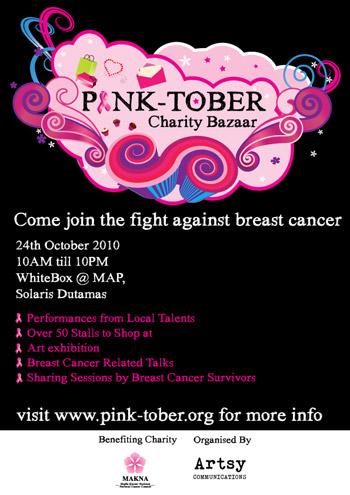 Pinktober Charity Bazaar Poster