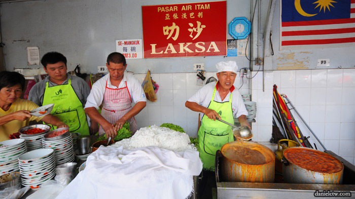 Uncle Poses for Air Itam Laksa Stall