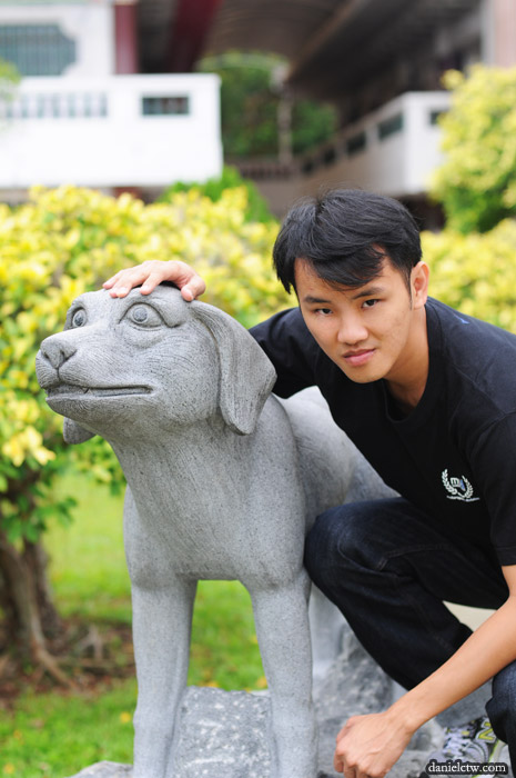 DanielCtw with Dog Sculpture