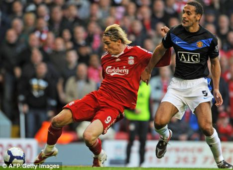 Liverpool vs Manchester United Torres