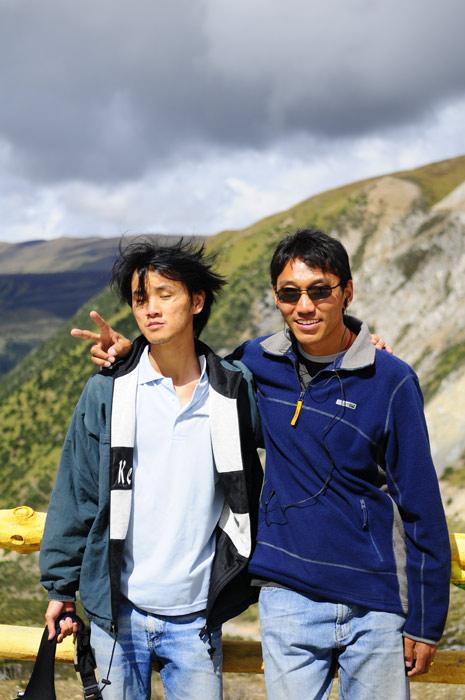 Weird Pose with Tibetan Tour Guide