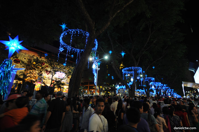 Crowded Orchard Road