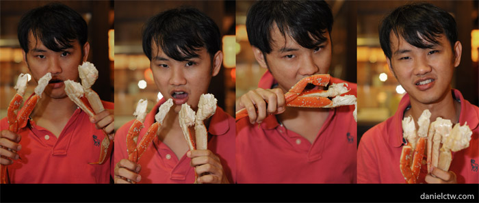 Daniel Chew with Snow Crab Feast