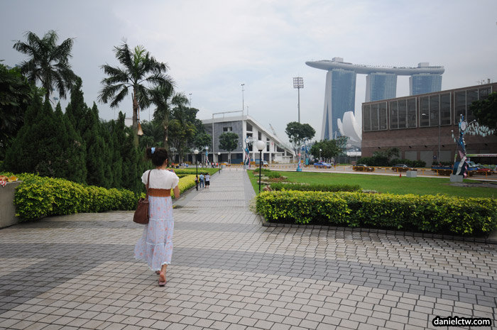Walking Towards Hanging Gardens Singapore