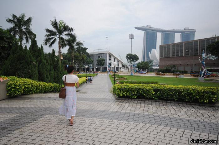Walking Towards Hanging Gardens Singapore