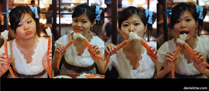 Yen Having Snow Crab Feast