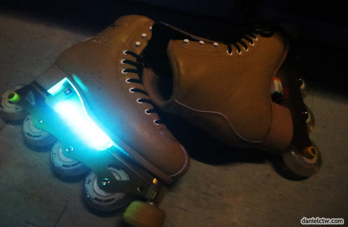 Roller Blades with LED Disco Lights