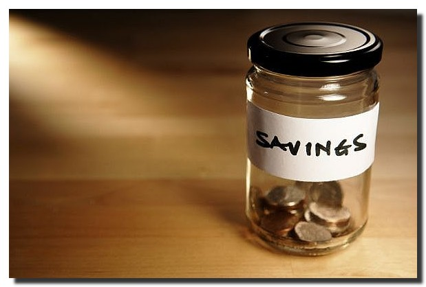 Saving Money in Jar