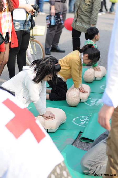Children Being Taught CPR in Korea